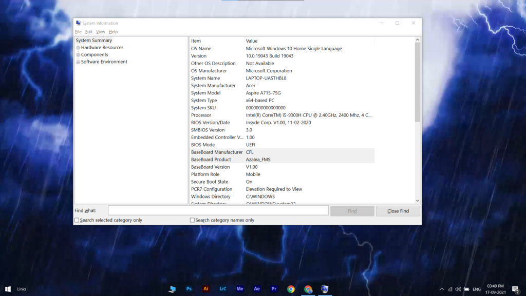 How To Check What Motherboard You Have using system information